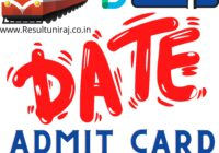 RRB Group D Admit Card & Exam Date 2021