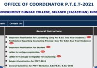 Rajasthan PTET 2021 Counselling Schedule